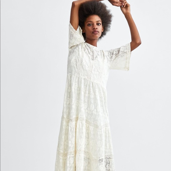 a60cf874 Zara Dresses | Nwt Trf Embroidered Maxi Dress | Poshmark